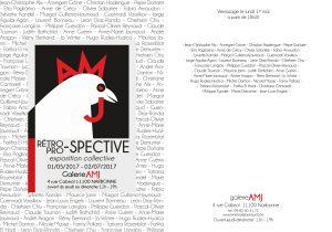 Invitation-retro-pro-spective, exposition collective à Narbonne - Galerie AMJ