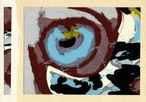 Sérigraphie Collage et Découpe - Carte d'artiste