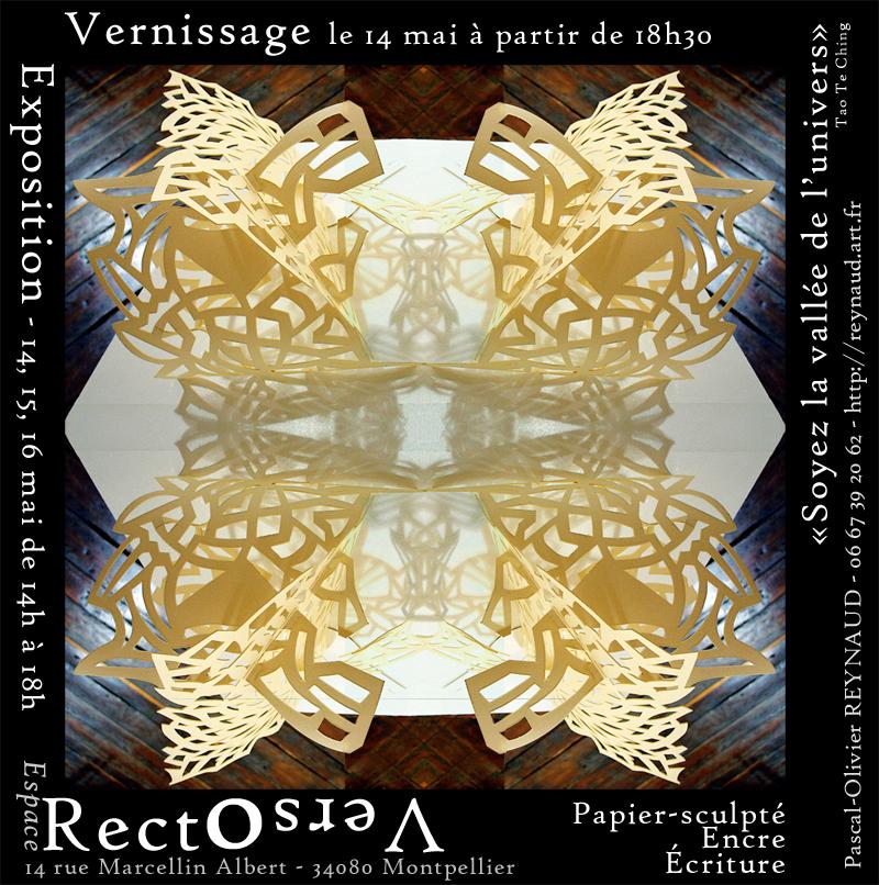 Affiche exposition au Recto-Verso à Montpellier-mai 2010