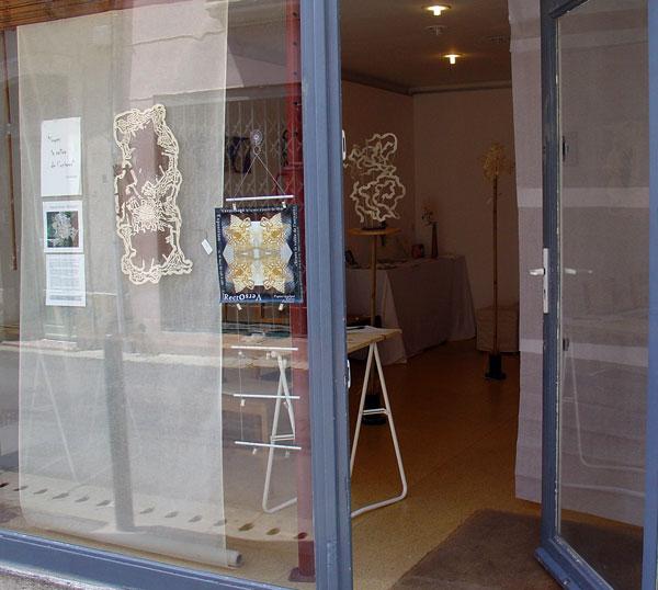 La vitrine de la galerie