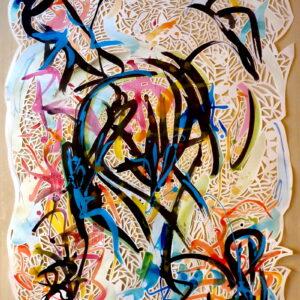 Papiers découpés - La danse de l'être