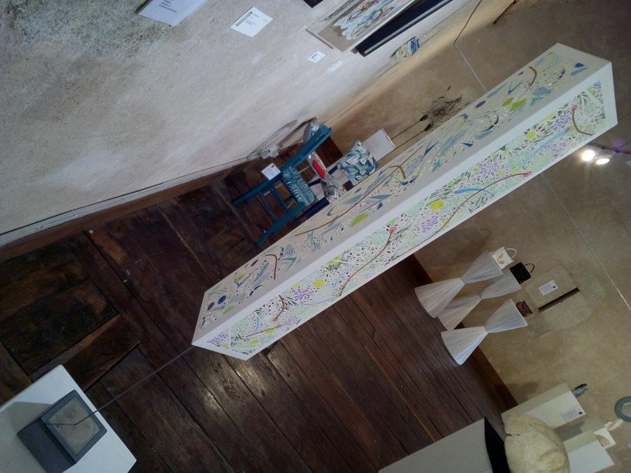 L'Étangd'Art à Bages exposition papier