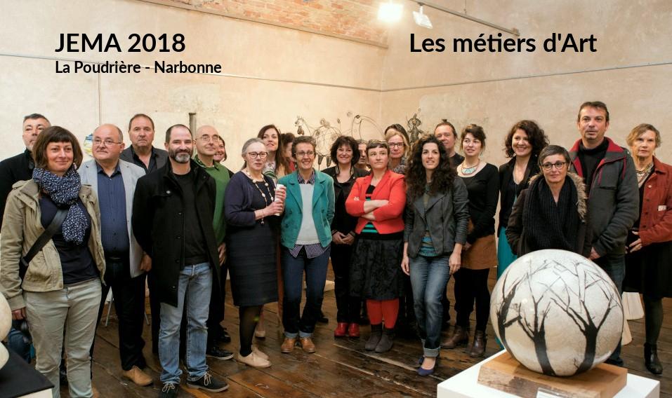 2018 JEMA - Les métiers d'art et Art Papiers Découpés sont à la Poudrière - Narbonne