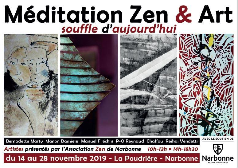 Exposition Méditation Zen & Art - novembre 2019 - La Poudrière à Narbonne
