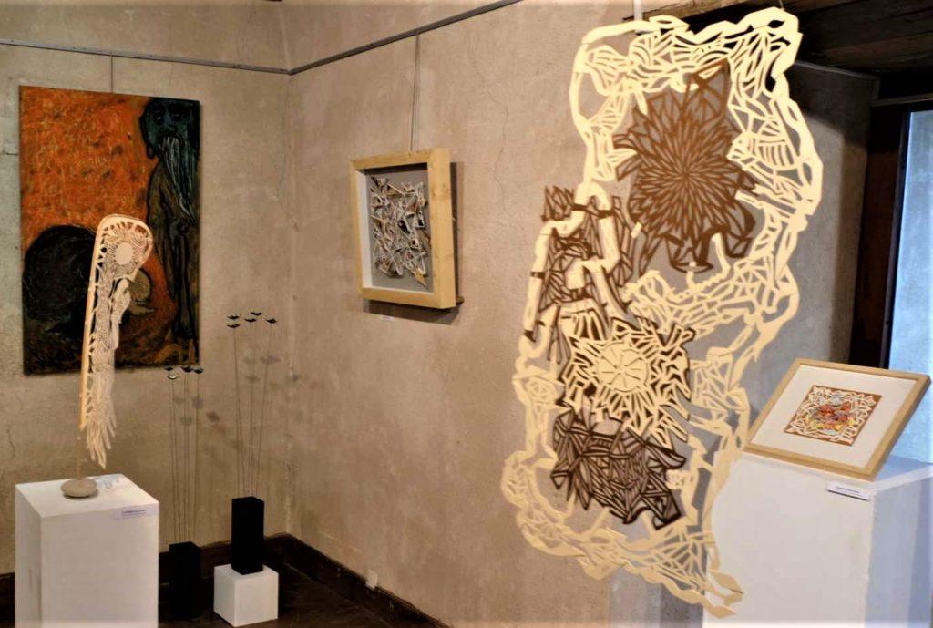 Pascal-Olivier Reynaud - Art Papiers découpés - Exposition  Méditation et Art novembre 2019 à la Poudrière à Narbonne.