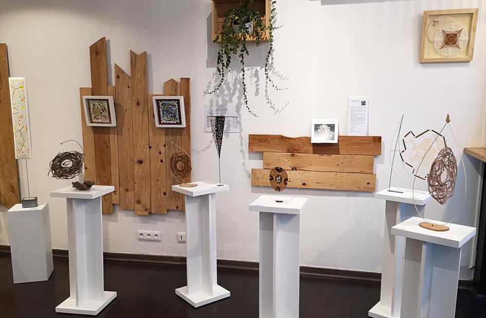 Exposition Papiers découpés et Fibres végétales - Pascal-Olivier Reynaud - Ma Pause Bio à Narbonne - Décembre 2020
