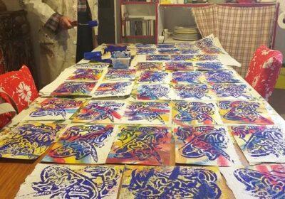 Impression d'estampes sur papier indien - Daniel Fillod
